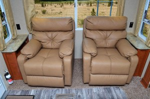 2 Cross Stitch Swivel Rocker Recliners