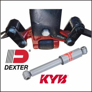 Dexter E-Z Flex Equalizers  KYB Shocks