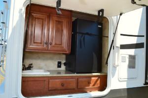 Outdoor Kitchen with Sink, 110 Fridge