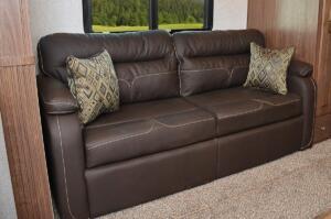 Tri-Fold Sofa With Decorative Throw Pillows
