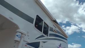 Side Box Awning (shown on Arctic Fox Camper)